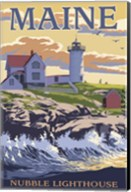 Nubble Lighthouse Ad Fine-Art Print