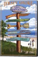 Jersey Shore Beach Signs Fine-Art Print