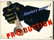 Production, America's Answer! Fine-Art Print