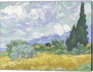 Wheatfield with Cypress Fine-Art Print