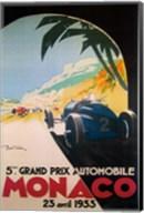 Grandprix Automobile Monaco, 1933 Fine-Art Print