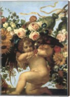 Cherub And Parrot Fine-Art Print