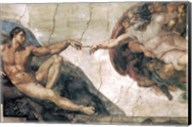 Michelangelo, Creation of man Fine-Art Print
