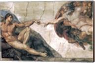 Michelangelo, Creation of man Fine-Art Print