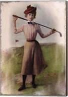 Vintage Lady Golfer Fine-Art Print