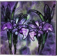 Stained Glass Orchids Fine-Art Print