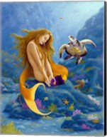 Mermaid and Turtle 2 Fine-Art Print