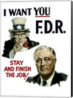 Uncle Sam and President Franklin Roosevelt Fine-Art Print