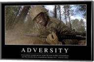 Adversity: Inspirational Quote and Motivational Poster Fine-Art Print