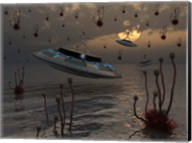 Aliens on UFO's Fine-Art Print
