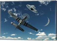 An American P-51 Mustang and UFO Fine-Art Print
