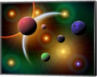 Stars and Planets in the Milky Way Galaxy Fine-Art Print