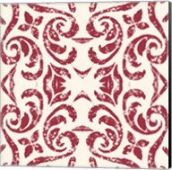 Damask Red Fine-Art Print
