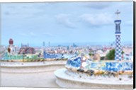 Park Guell Terrace, Barcelona, Spain Fine-Art Print