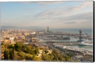 View of Barcelona from Mirador del Alcade, Barcelona, Spain Fine-Art Print