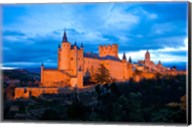 Spain, Segovia Alcazar Castle at Sunset Fine-Art Print