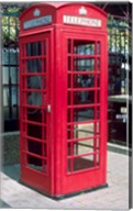 Red Telephone Booth, London, England Fine-Art Print
