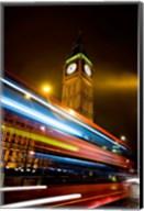London, Big Ben, Houses of Parliament, Red bus Fine-Art Print