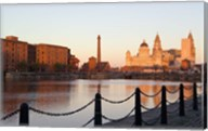 Liver Building from Albert Dock, Liverpool, Merseyside, England Fine-Art Print