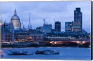 View of Thames River, London, England Fine-Art Print