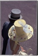 Man and woman wearing hats, Royal Ascot, London, England Fine-Art Print