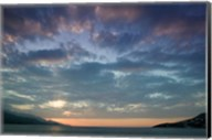 Greece, Aegean Islands, Samos, Vathy Bay Sunset Fine-Art Print