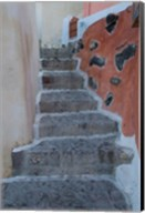 Old Stairway, Oia, Santorini, Greece Fine-Art Print