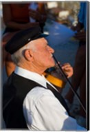 Older Gentleman Playing The Violin, Imerovigli, Santorini, Greece Fine-Art Print