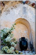 Pottery and Flowering Vine, Oia, Santorini, Greece Fine-Art Print