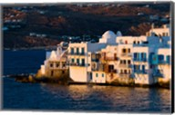 Shoreline of Little Venice, Hora, Mykonos, Greece Fine-Art Print