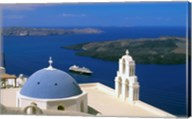 Kimisis Theotokov Church, Thira, Santorini, Cyclades Islands, Greece Fine-Art Print