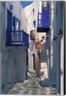 Cobblestone Alley, Santorini, Greece Fine-Art Print