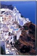 White Buildings in Oia Santorini, Athens, Greece Fine-Art Print