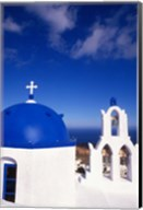 White Orthodox Church of Oia Santorini, Greece Fine-Art Print