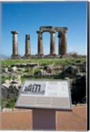 Greece, Corinth Doric Temple of Apollo Fine-Art Print
