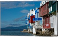 Greece, Cyclades, Mykonos, Hora 'Little Venice' area Fine-Art Print