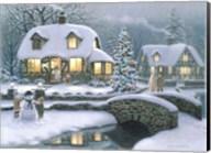 Christmas Eve At Holbrook Cottage Fine-Art Print