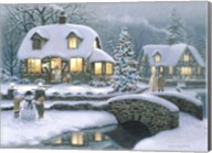 Christmas Eve At Holbrook Cottage Fine-Art Print