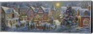 Christmas Village Panoramic Fine-Art Print