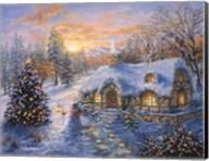 Christmas Cottage 1 Fine-Art Print