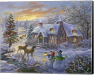 Christmas Cottage 2 Fine-Art Print