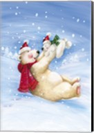 Polar Bears In Christmas Snow Fine-Art Print