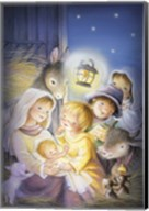 Mary and The Animals Manger Scene Fine-Art Print
