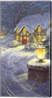 Snowy Winter Christmas Road Home Fine-Art Print