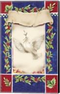 Mistletoe Holiday Dove Fine-Art Print