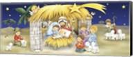 Mary Joseph and Children Manger Scene Fine-Art Print