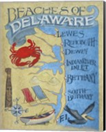 Delaware Beach Map Fine-Art Print