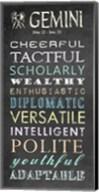 Gemini Character Traits Chalkboard Fine-Art Print