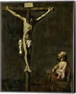 Saint Luke as a Painter Before Christ on the Cross (self-portrait of Francisco de Zurbaran) Fine-Art Print
