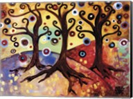 Tree Whimsy Of Three Fine-Art Print